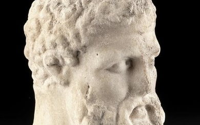Greek Marble Head of Herakles, ex-Christie's