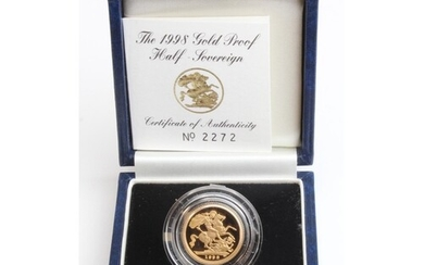 Half Sovereign 1998 Proof FDC boxed as issued