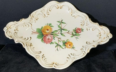 Hand Painted Signed Italian Porcelain Serving Dish