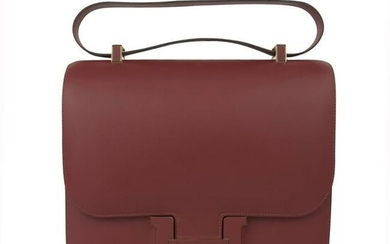 Hermes Constance Cartable Bag Limited Edition Rouge H