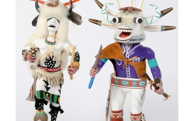 Hopi White Buffalo AND White Ogre Katsinas