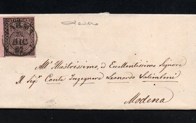 Italian Ancient States - Parma 1852/1855 - Two letters with 25 cents 1st issue and 15 cents 2nd issue - Sassone NN. 4 & 7a