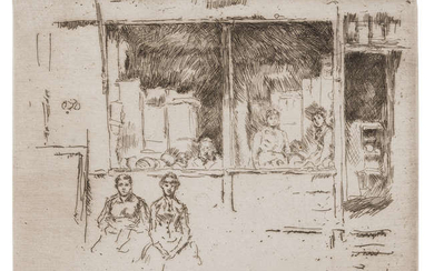 James Abbott McNeill Whistler (1834-1903) Melon Shop, Houndsditch