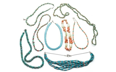 LOT OF BEADED NECKLACES