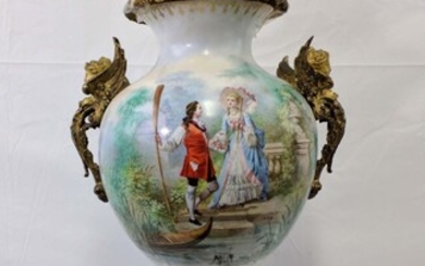 Large 19 Century French Porcelain Sevres Urn