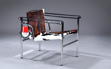 Le Corbusier, LC1 lounge chair, pony leather