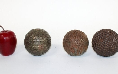 Lot of 3 antique French Petanque balls