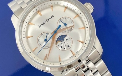 Louis Erard - Heritage Collection Moon Phase White Stainless Steel Swiss Made - 14910AA11.BMA38 - Men - Brand New
