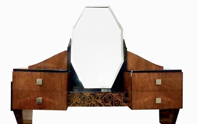 "Modernist French - Art Deco ""JAZZ"" Vanity / Coiffeuse (1)"