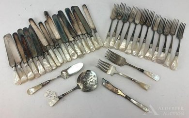 Mother of Pearl with Sterling band Flatware