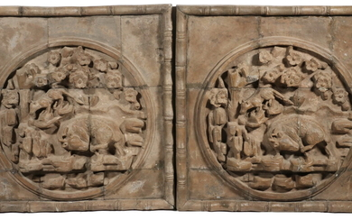 PR OF LATE MING/EARLY QING CHINESE STONE ARCHITECTURAL TILES