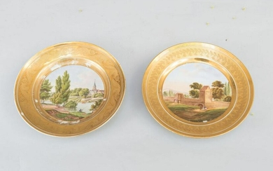 Pair of Russian porcelain dishes