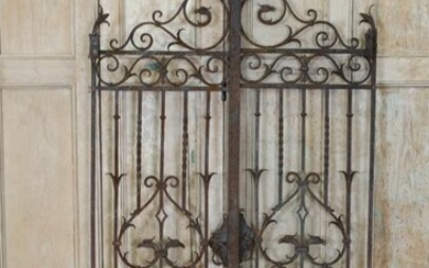 Pair of Yellin Style Wrought Iron Entry Gates