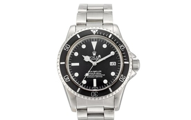 ROLEX | SEA DWELLER, REFERENCE 1665 A STAINLESS STEEL WRISTWATCH WITH DATE, SERVICE DIAL AND BRACELET, CIRCA 1978