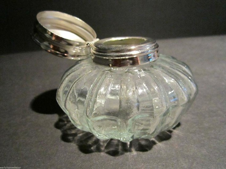 Round Clear Glass Thick Glass Inkwell Ink pot Bottle