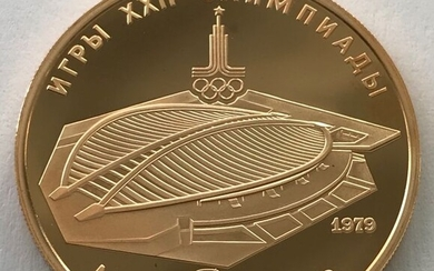 Russia - 100 Rubel 1979 - Olympic Games 1980 - Velodrome - 1/2 oz - Gold