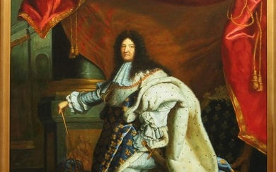 SIGNED SHAMANTHA OIL ON CANVAS 36 24 KING LOUIS XIV