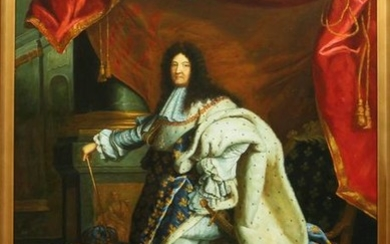 SIGNED SHAMANTHA, OIL ON CANVAS, KING LOUIS XIV