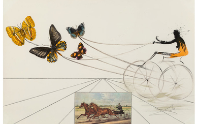 Salvador Dalí (1904-1989), American Trotting Horses No. 1, from Currier & Ives as Interpreted by Salvador Dali (1971)