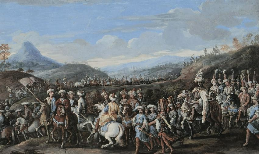 Italian school of 18th Century, Ottoman Sultan convoy