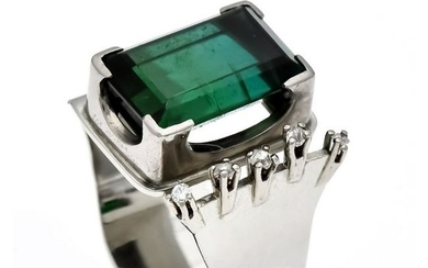 Tourmaline diamond ring W
