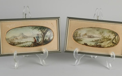Two early 19th century miniature paintings on