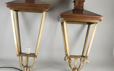 Two large brass lanterns.&#160 Unused.&#160 21st