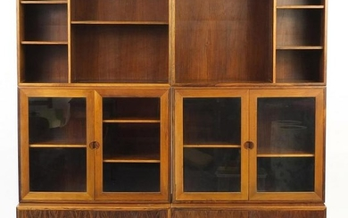 Vintage Danish rosewood modular bookcase by HG