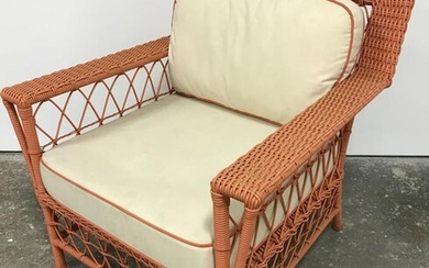 Vintage Woven Peach Toned Chair