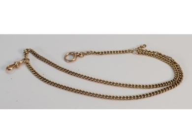 Yellow coloured metal part Albert watch chain: Rose coloure...