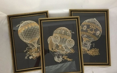 Yves Beaujard Silver and Gold Engraving Set by The
