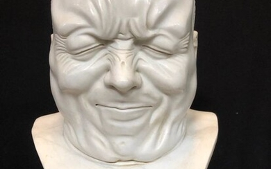 grimace head statue (1) - Marble - First half 20th century