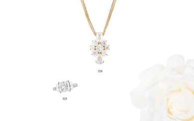 """1.007 CT DIAMOND GOLD NECKLACE""L50.2 cm, 25.3×15.8 mm, 8.6 g"