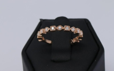 14KT Rose Gold stackable Diamond Ring