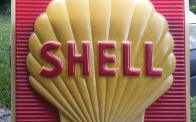 1975 Shell Advertising Sign, Shell Oil Company