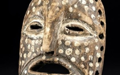 19th C. African Ituri River Painted Wood Mask