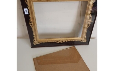 19th c gilt wood and Gesso picture frame with pierced and sc...