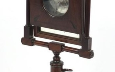19th century mahogany Zogroscope with magnifying and
