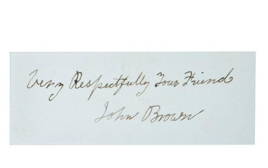 John Brown Autographed Inscription