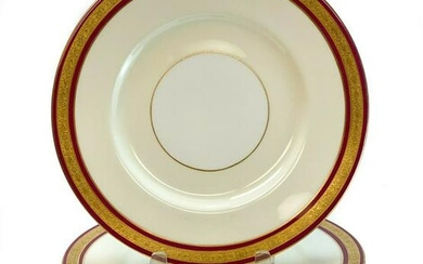 8 Minton for Tiffany & Co. Porcelain Dinner Plates