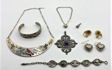 8 Piece Assorted Sterling Silver Jewelry - Variety