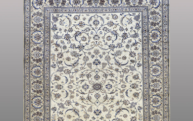 A CARPET, Nain part silk, s.k 9 LAA, ca 396 x 290 cm