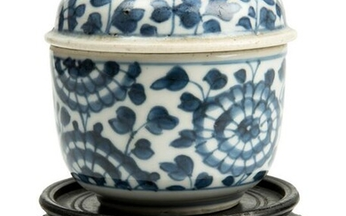 A Chinese Blue and White 'Lotus' Cupfull and Cover.