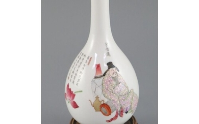 A Chinese famille rose bottle vase, Daoguang period (1821-50...