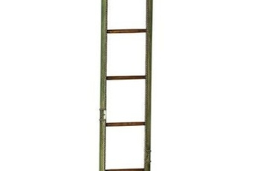 A George III style folding library pole ladder