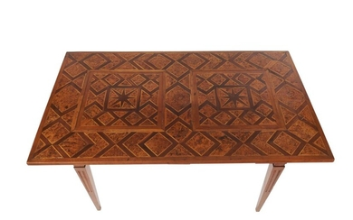 A NORTHERN ITALIAN PARQUETRY SIDE TABLE LATE 18TH AND 19TH CENTURY
