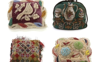 A Sweetheart Pin Cushion and Other Items, comprising an Essex...