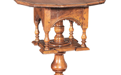 A rare William & Mary joined fruitwood 'bird-cage' tripod table, circa 1690