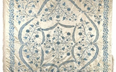 AN OTTOMAN SILK FLORAL HANGING PANELTURKEY, 19TH