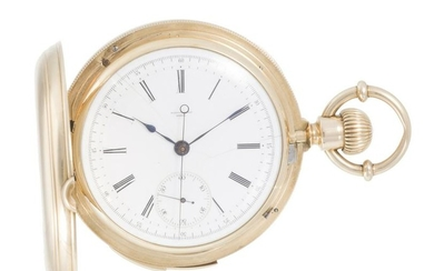 An 18k gold Auguste Piguet chronograph pocket watch